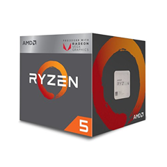 AMD Ryzen 5 3400G, with Wraith Spire cooler/ 3.7 GHz (4.2 GHz with boost) / 6MB / 4 cores 8 threads / Radeon Vega 11 / 65W / AMD4