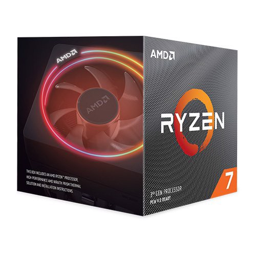 AMD Ryzen 7 3700X, with Wraith Prism cooler/ 3.6 GHz (4.4 GHz with boost) / 36MB / 8 cores 16 threads /65W / AMD4