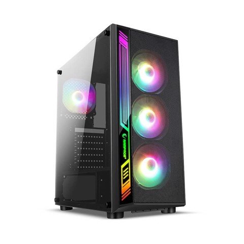 Infinity Sense Led Digital RGB Tempered Glass Case