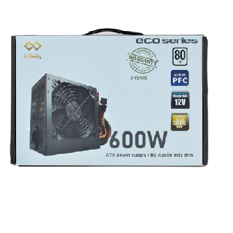 Nguồn Infinity ECO 600W 80Plus Single Rail – True Power
