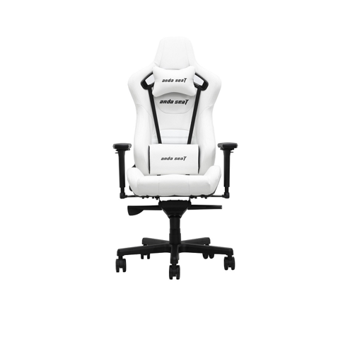 Anda Seat Infinity King Pure White – Full PVC Leather 4D Armrest Gaming Chair