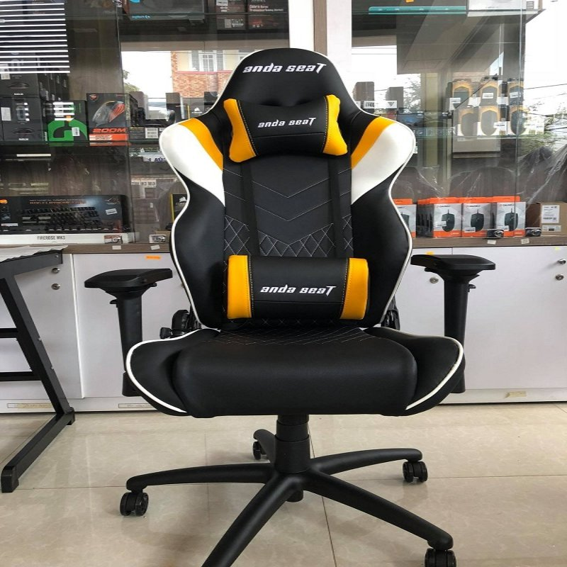 Anda Seat Assassin Black/Yellow V2 – Full PU Leather 4D Armrest Gaming Chair