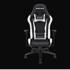 Anda Seat Axe Black/White – Full PU Leather 4D Armrest Gaming Chair