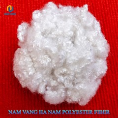 Vietnam semi dull white regenerated polyester staple fiber HCS 15D x 32/51/64 mm