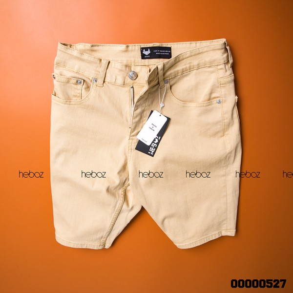 Quần short jean color Heboz 6M