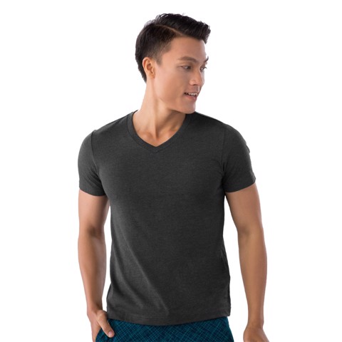 Áo Thu Nam Cotton Giordano V Neck Tee