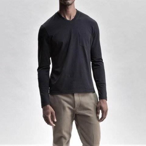 F2F pocket long sleeve cotton tee