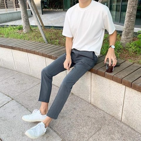 Áo Thun Nam Cotton Basic Tee Gu by Uniqlo