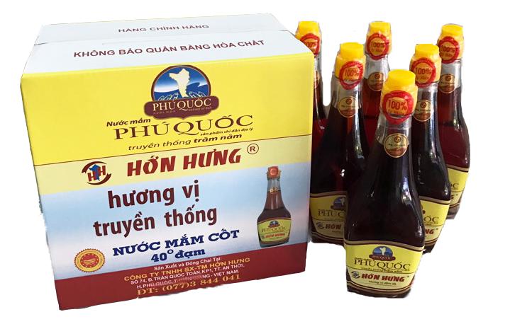 Nước mắm Phú Quốc Hớn Hưng - Chai 200ml (hộp 6 chai)