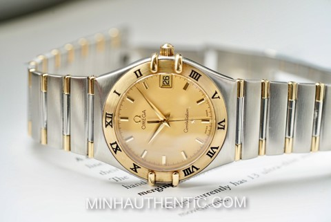 Omega Constellation quartz 18k Gold/Steel 1312.10.00