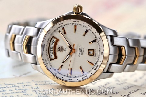 Tag Heuer Link Day Date 18k Gold/Steel WJF2050.BB0593