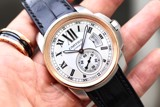 Cartier Calibre 18k Rose Gold/ Steel 3389 W7100039