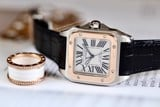 Cartier Santos 100 Medium 18k Rose Gold W20107X7