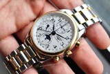 Longines Master Chronograph Moonphase 18kGold/Steel L2.673.5.78.7