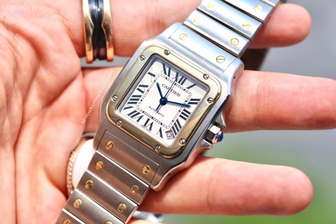 Cartier Santos Galbee XL 2823 Automatic 18k Gold/Steel W20099C4