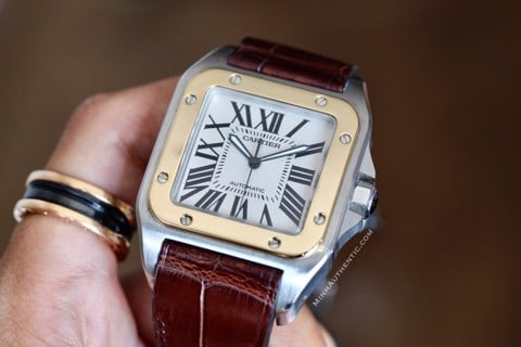 Cartier Santos 100 Large 18K Gold/Steel 2656 W20072X7