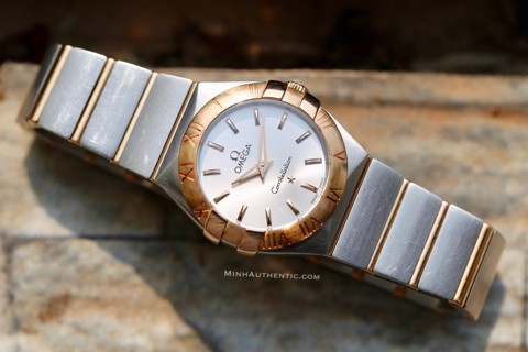 Omega Constellation 18k Rose Gold/Steel 123.20.27.60.02.001