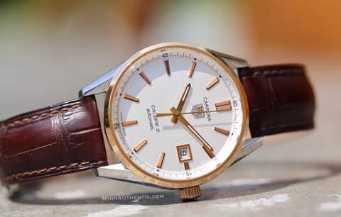 Tag Heuer Carrera Automatic 18k Rose Gold/Steel WAR215D.FC6181
