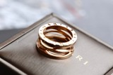 Bvlgari B.Zero1 Design Legend 3-band 18k Rose Gold Ring AN858029