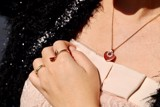 Bvlgari Coure 18k Rose Gold/Carnelian Necklace CL857494