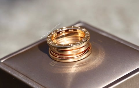 Bvlgari B.zero1 3-band 18k Rose Gold Ring AN852405