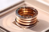 Bvlgari B.zero1 4-band 18k White/Rose Gold Ring AN857651