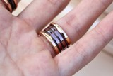 Bvlgari B.zero1 ROMA 4-band Ring 18k Rose Gold/Bronze Ceramic AN856887