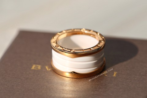 Bvlgari B.zero1 4-band Ring 18k Rose Gold/Ceramic AN855564