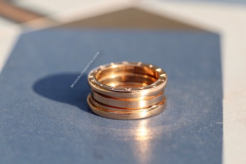 Bvlgari B.zero1 3-band 18k Gold Ring AN852405