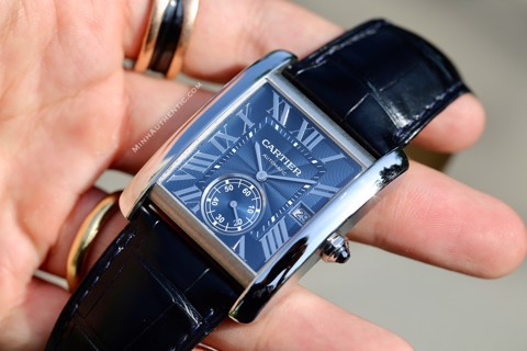 Cartier Tank MC Blue Dial WSTA0010