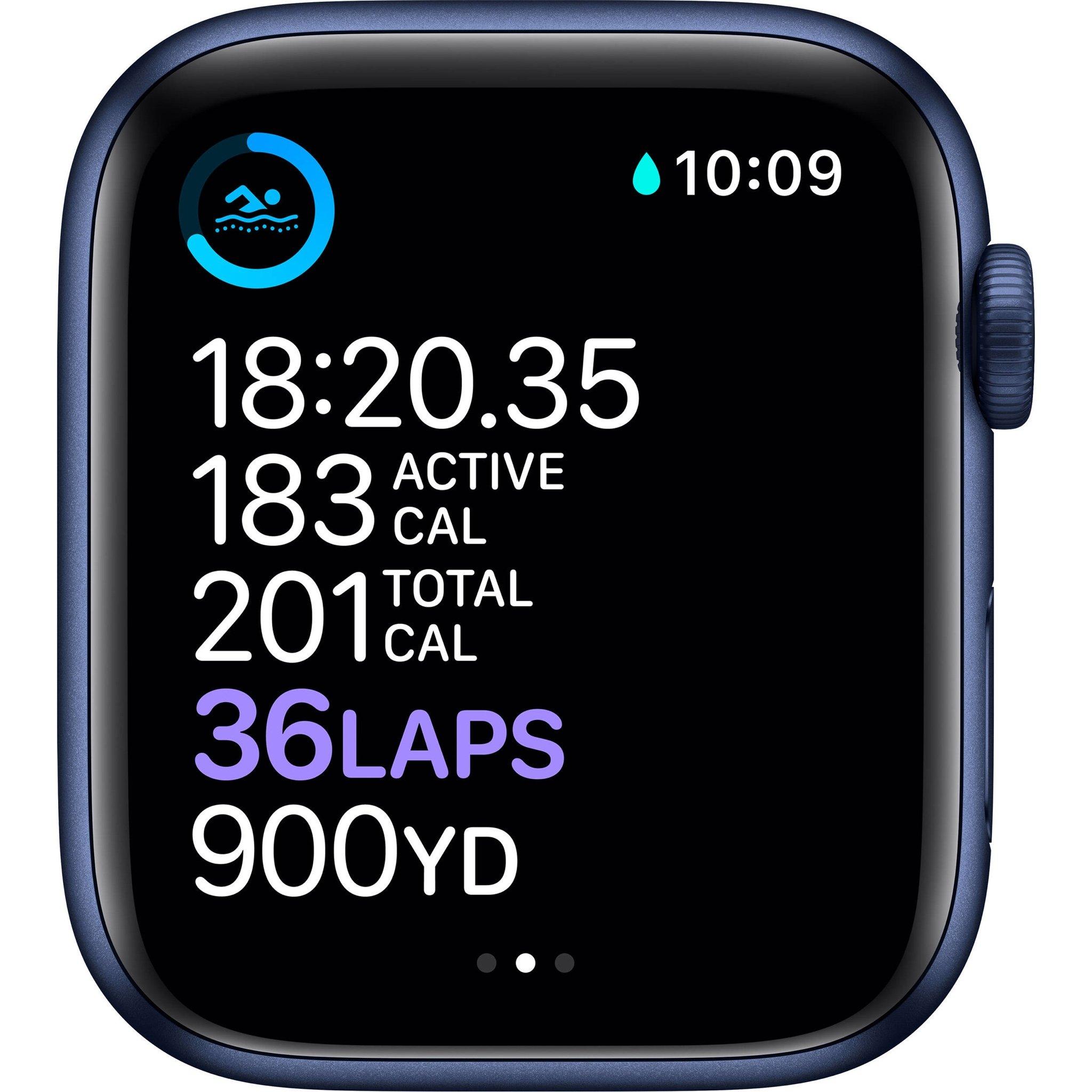 Apple Watch Series 6 GPS, Blue Aluminium Case with Deep Navy Sport Band