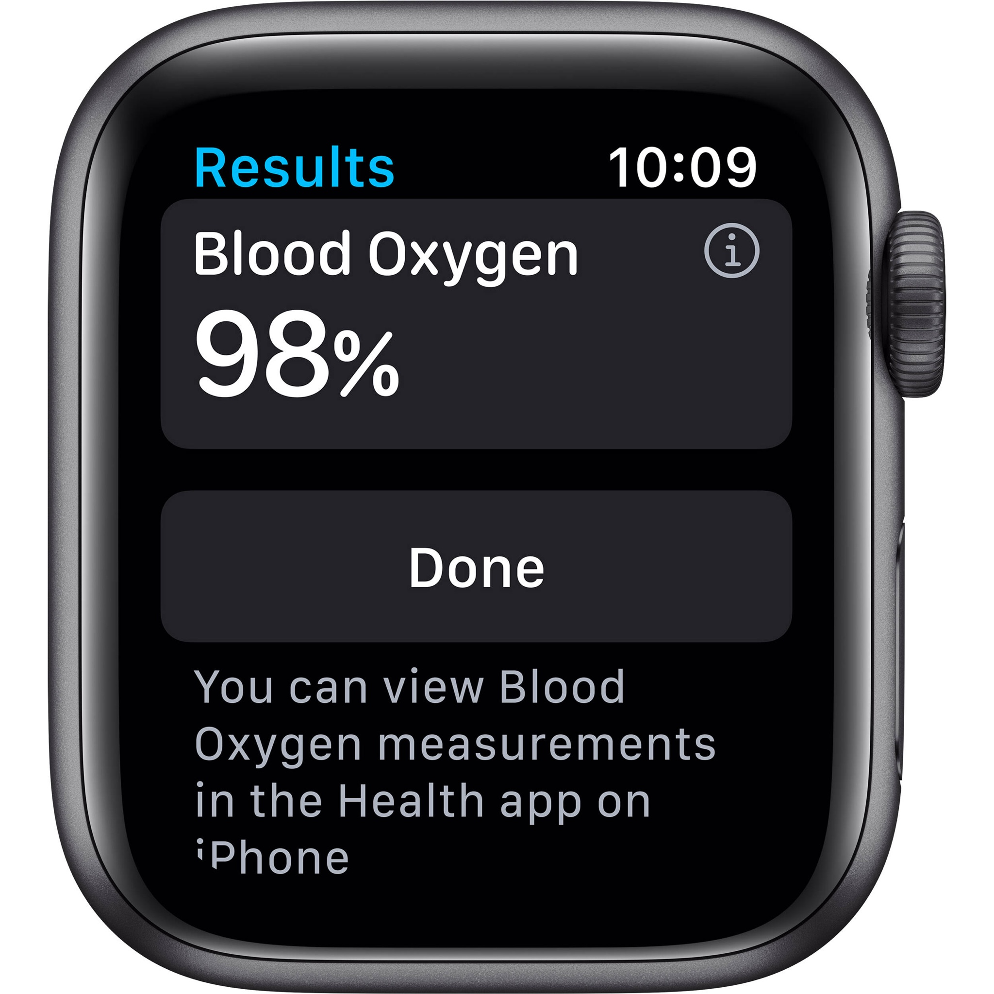 Apple Watch Series 6 GPS, Space Gray Aluminium Case with Black Sport Band