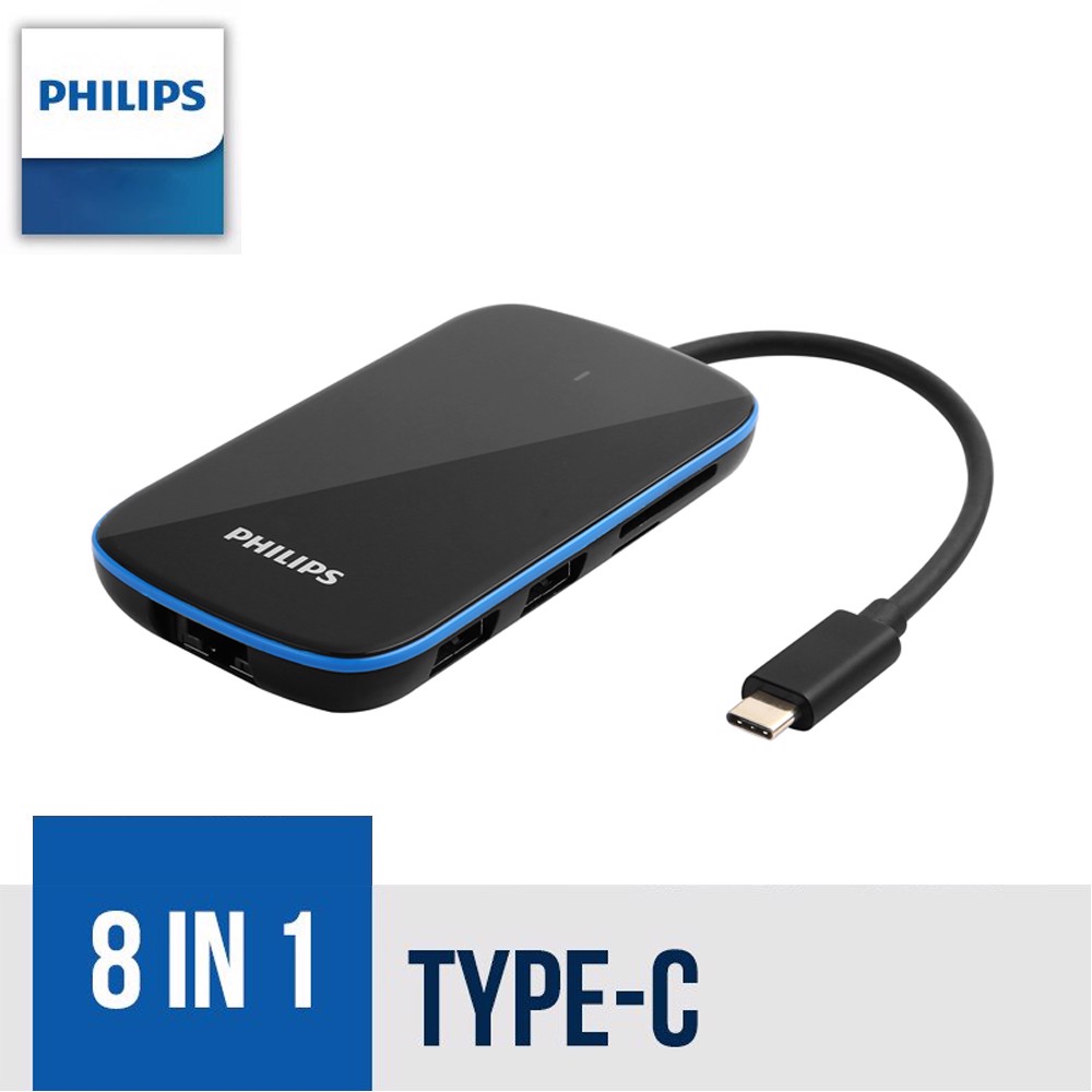 Philips USB-C HUB 8 in 1 GLASS