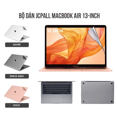 Bộ dán bảo vệ JCPAL 5 in 1 Macbook Air & MacBook Pro