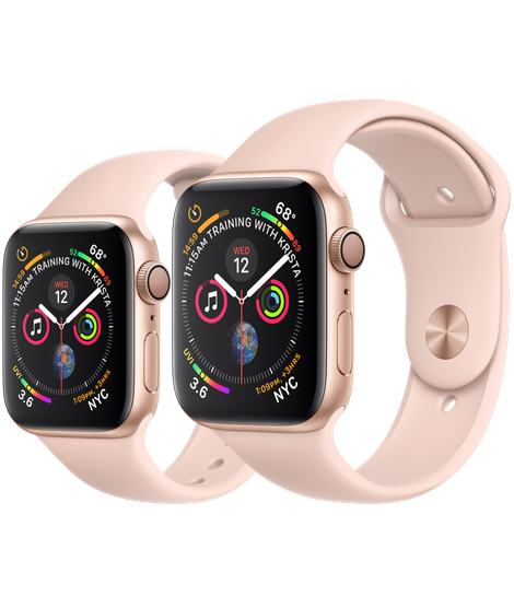 Apple Watch Series 5 (GPS) - Gold Aluminum Case with Pink Sand Sport Band
