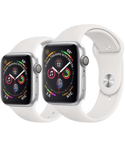 Apple Watch SE GPS, Silver Aluminium Case with White Sport Band
