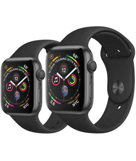 Apple Watch Series 5 (GPS) - Space Gray Aluminum Case with Black Sport Band