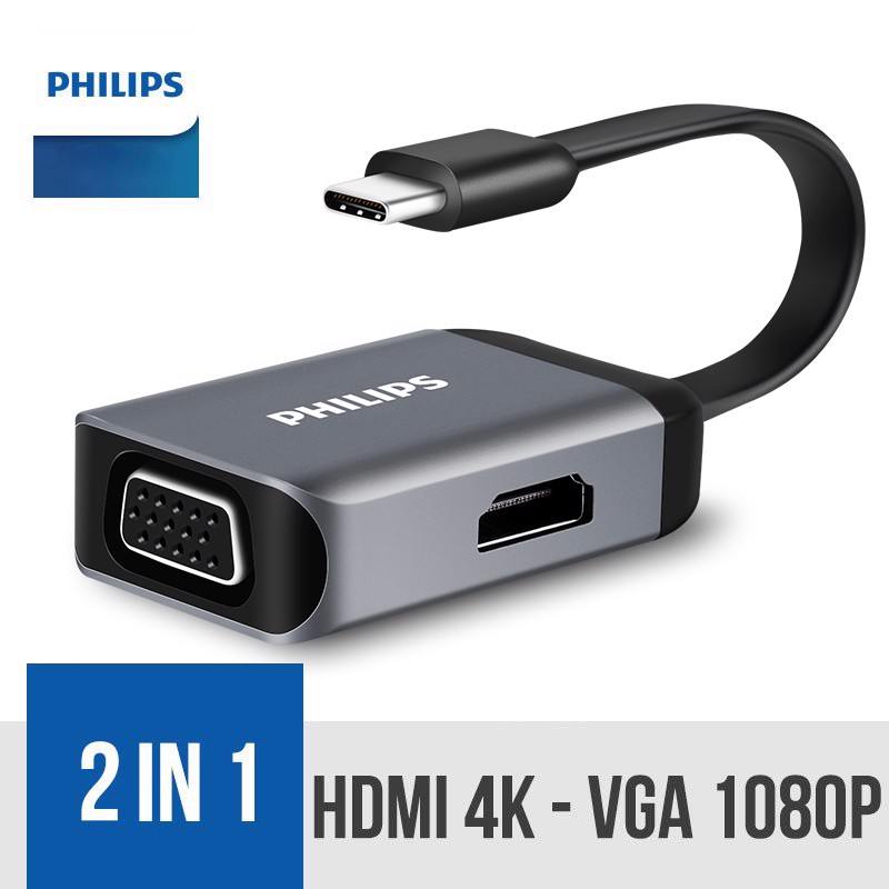 Philips USB-C to HDMI/VGA 2-in-1