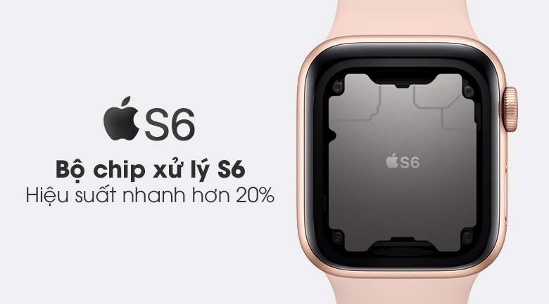 Apple Watch Series 6 GPS, Gold Aluminium Case with Pink Sand Sport Band