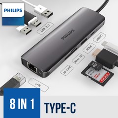 Philips USB-C HUB 8 in 1