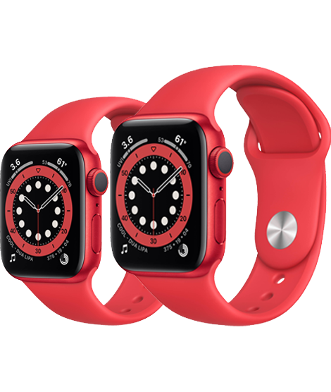 Apple Watch Series 6 GPS, PRODUCT(RED) Aluminium Case with PRODUCT(RED) Sport Band