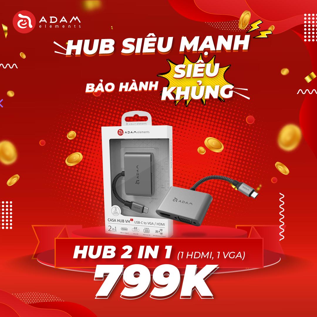ADAM ELEMENTS CASA USB-C to HDMI & VGA 2IN1