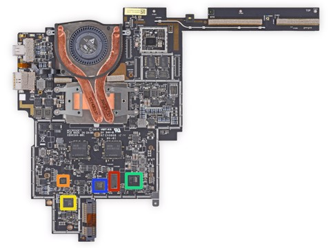 Mainboard Microsoft Surface Book - i5 / 8GB / 128GB