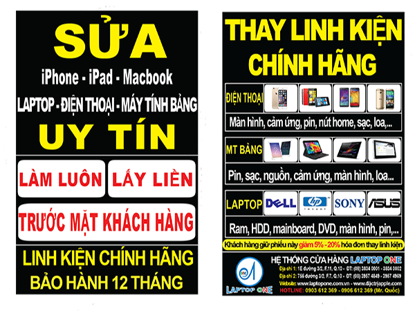 Sửa laptop Sony ở đâu uy tín nhất