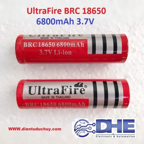 Pin 18650 - 6800maH-ULTRAFIRE-3.7V