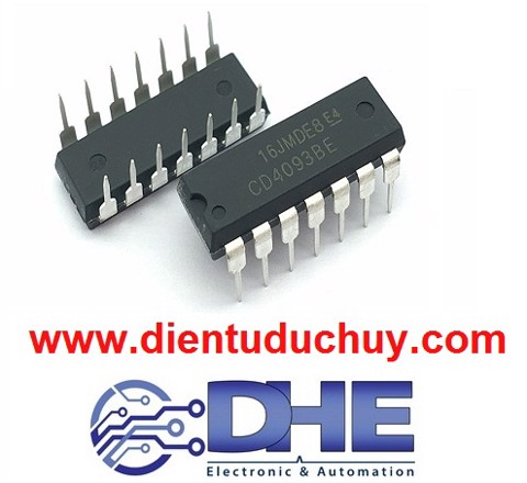 CD4093 (IC logic NAND, đầu ra Trigger)