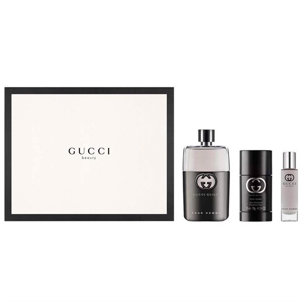 Gift Set Gucci Guilty Pour Homme 3pcs ( EDT 90ml & Lăn khử mùi 75ml & EDT 15ml )