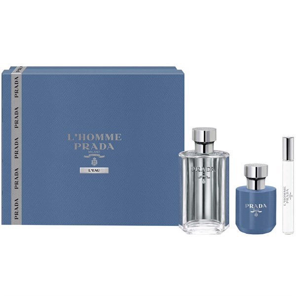 Gift Set Prada L'Homme L'eau 3pcs ( EDT 100ml & EDT 10ml & Shower Gel 100ml )