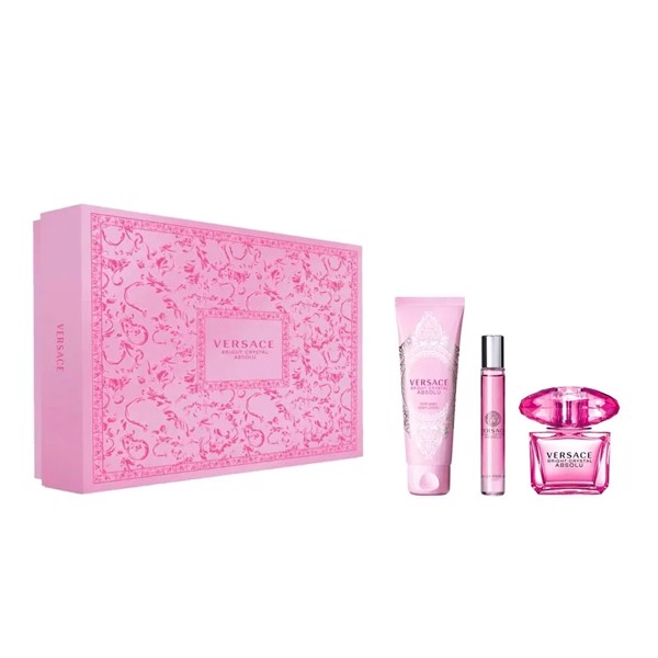 Gift Set Versace Bright Crystal Absolu 3pcs (EDP 90ml + EDP 10ml + BL 150ml)