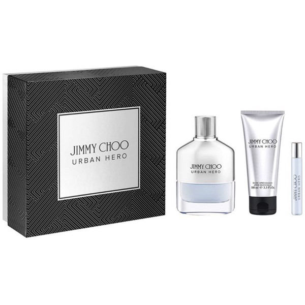 Gift Set Jimmy Choo Urban Hero 3pcs ( EDP 100ml & EDP 7,5ml & After Shave 100ml )